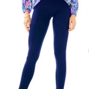 LILLY PULITZER TRAVEL PANT MIDNIGHT NAVY ~ S